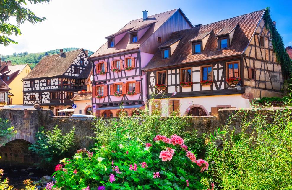 Ebenfalls in Kaysersberg, nahe der Brücke über die Weiss stehen diese Elsaß-Immobilien. (#6)